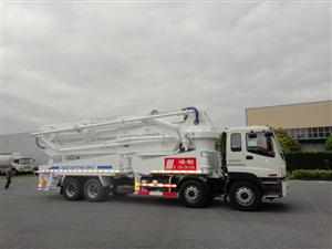 Our Truck-mounted concrete pump (47M) for Singapore market