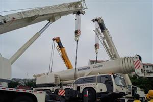 1st large-tonnage CAC220 all-terrain truck crane rolls offline at CJ-Crane