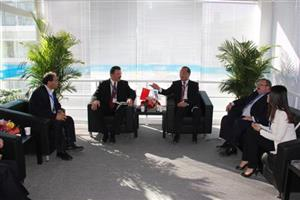 Chairman Wu Peiguo meets foreign guests