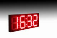LED Clock and Thermometer Sign