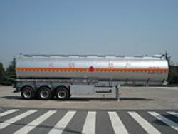 Aluminium alloy tank semi-trailer