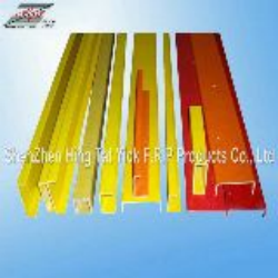 Yellow fiberglass pultruded profiles for building